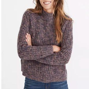 Madewell Pointelle Mockneck Pullover Sweater XS